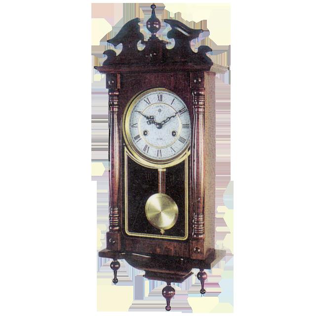 Настенные механические часы Adler 11005 Орех Античный